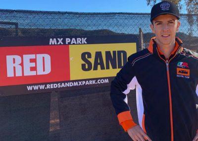 Iker Larrañaga durante la pretemporada 2019 en Red Sand