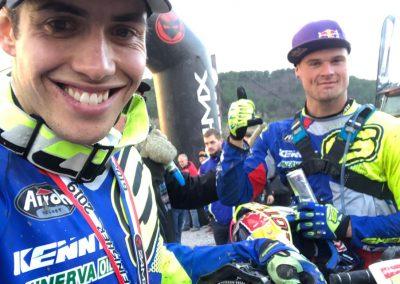 sonrisa de Mario Román tras la carrera de Alestrem