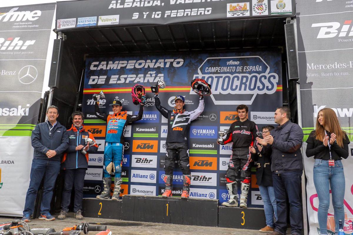 Iker subió a lo más lato del podio en Albaida
