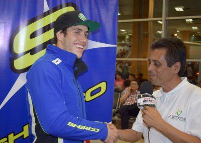 Mario durante la entrevista de MotoTec
