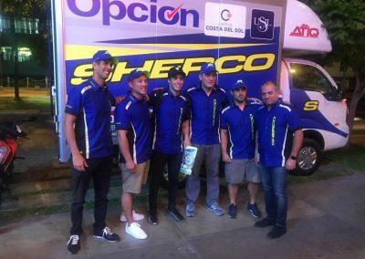 Mario con el Team Barbacci-Sherco