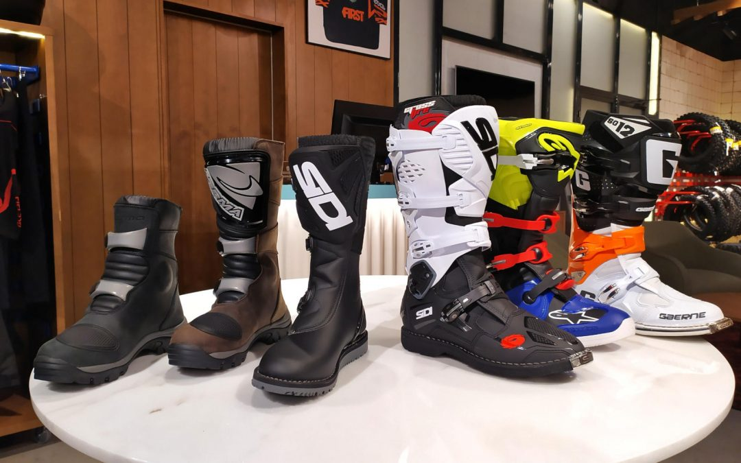 Los tipos de bota para moto de campo